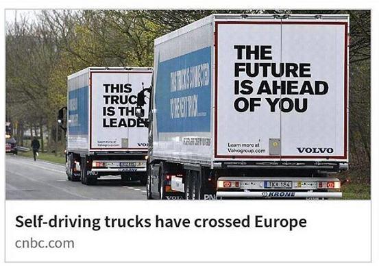 zelfrijdende vrachtauto