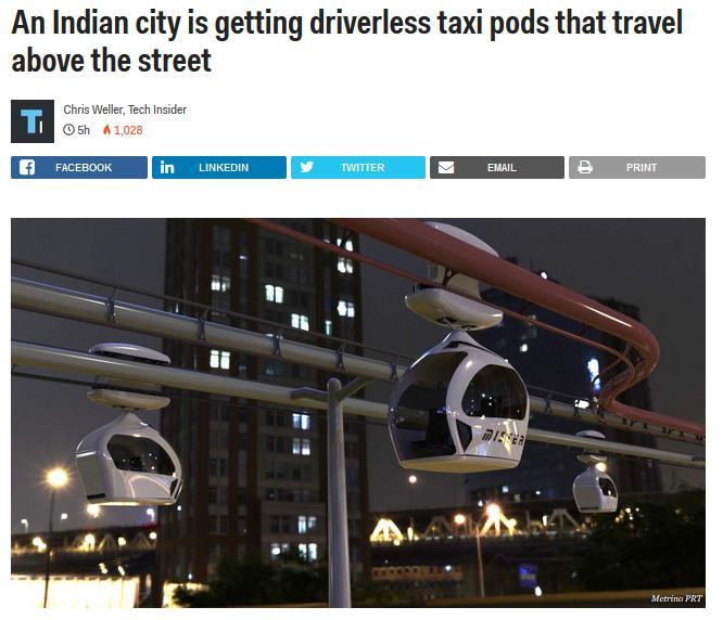 PRT taxi transport india