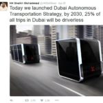 Dubai wilt 25% van alle auto's zelfsturend hebben