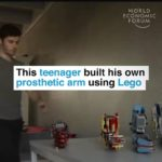 Teenager developed prosthetic arm with lego