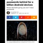 #Google looks to leave passwords behind for a billion Android devices. #Fingerprint #technology as #security will be implemented. The change will affect half of all #Android users